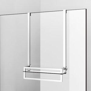 Porte serviette avec tablette pour douche vitrée