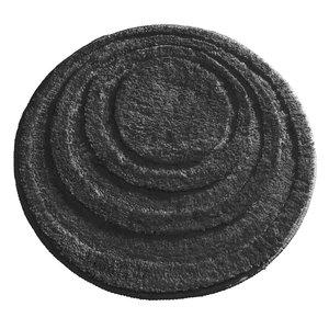 Tapis de bain noir rond Spa par Interdesign