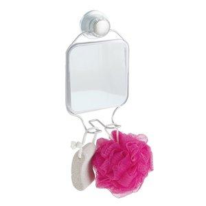 Miroir en aluminium à ventouse pour la douche par Interdesign