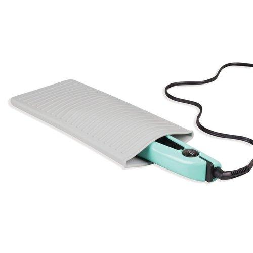 Plateau et pochette 2-en-1 en silicone pour fer plat