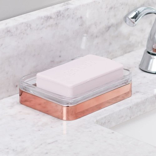 Porte-savon verre et cuivre Casilla par Interdesign