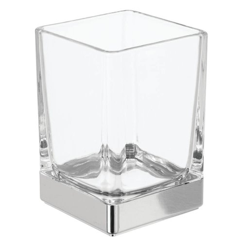 Gobelet de salle de bain verre et chrome Casilla par Interdesign