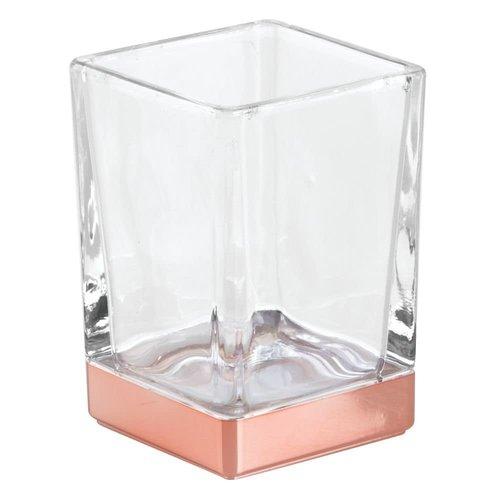 Gobelet de salle de bain verre et cuivre Casilla par Interdesign