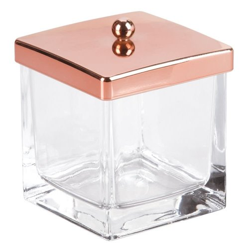 Jarre à coton verre et cuivre Casilla par Interdesign