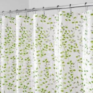 Rideau de douche vert et blanc Vine par Interdesign