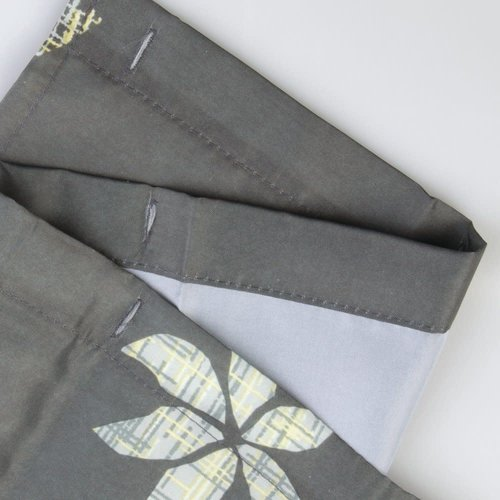 Rideau de douche gris Tessa par Interdesign