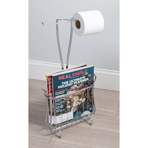 Support à papier de toilette et magazines chrome Axis Plus