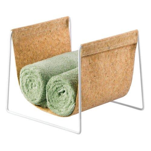 Porte-serviette en liège sur pied par Interdesign