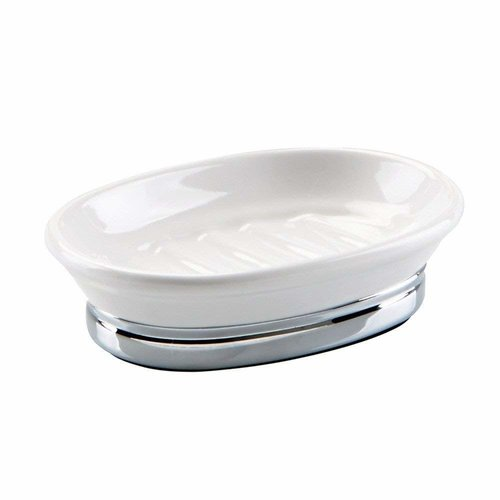 Porte-savon blanc et chrome York par Interdesign