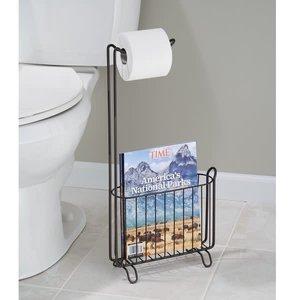 Support à papier de toilette et magazines bronze Classico