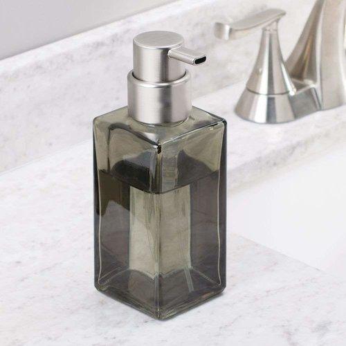 Pompe à savon verre fumé et inox Casilla par Interdesign