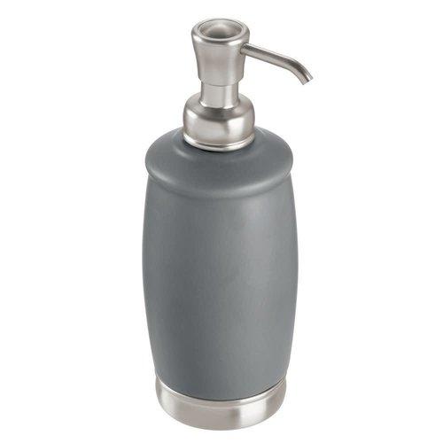 Pompe à savon grise et nickel York par Interdesign