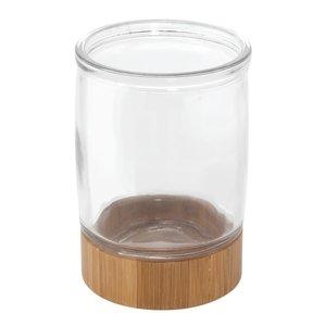 Gobelet de salle de bain en verre et bambou Kane par Interdesign