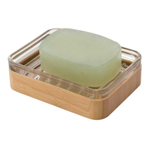 Porte-savon en verre et bambou Kane par Interdesign