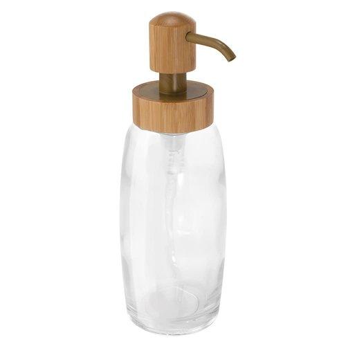 Pompe à savon en verre et bambou Kane par Interdesign
