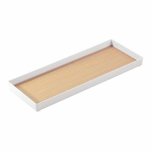 Plateau de rangement blanc et bois par Interdesign