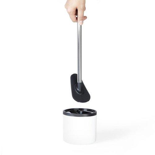 Brosse de toilette Looeegee avec socle blanc par Better Living