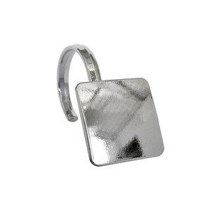 Crochet carré pour rideau de douche chrome Hadley par Moda