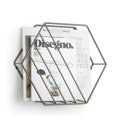 Porte-magazine Zina titanium par Umbra