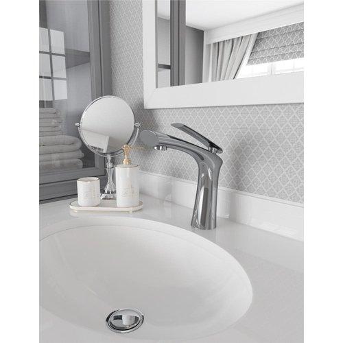 Robinet de lavabo monotrou chrome Fluvia par Tënzo