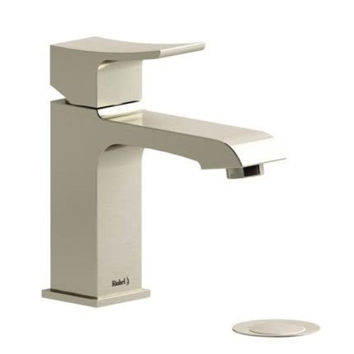 Riobel Robinet de lavabo monotrou nickel brossé avec drain Zendo par Riobel