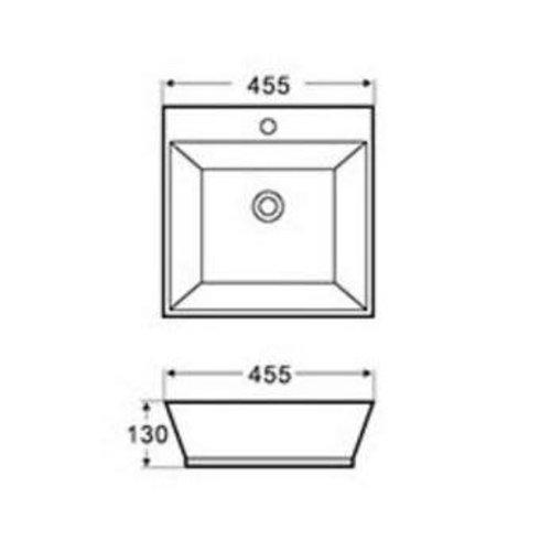 Lavabo carré de type vasque Moderno