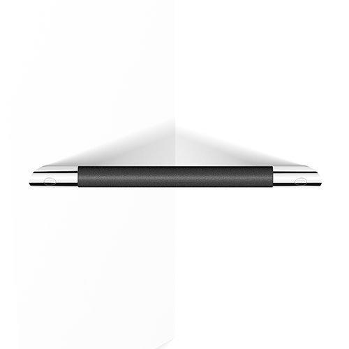 Barre d'appui - Appui pied en coin chrome et noir par Zitta
