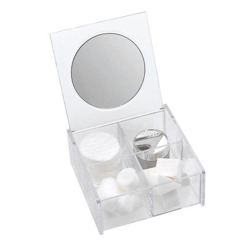 Organisateur de comptoir en acrylique avec miroir intégré