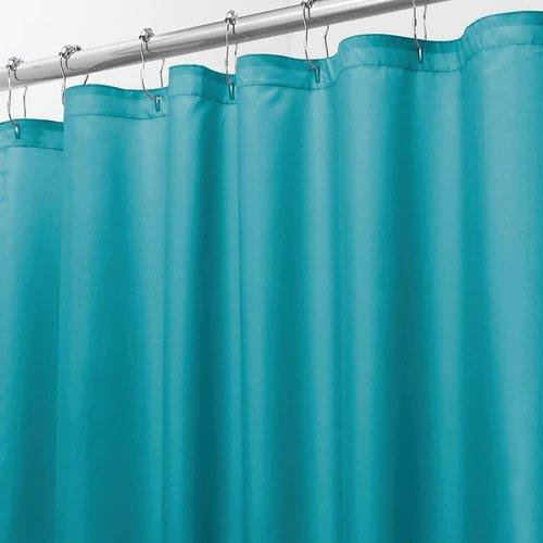 Rideau de douche uni turquoise par Interdesign