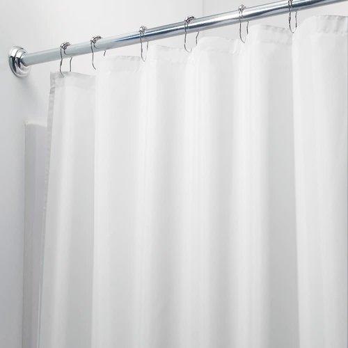 Rideau de douche uni blanc par Interdesign