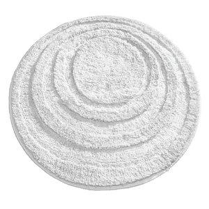 Tapis de bain blanc rond Spa par Interdesign