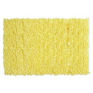 Tapis à bouclettes jaune pâle en fibres recyclées