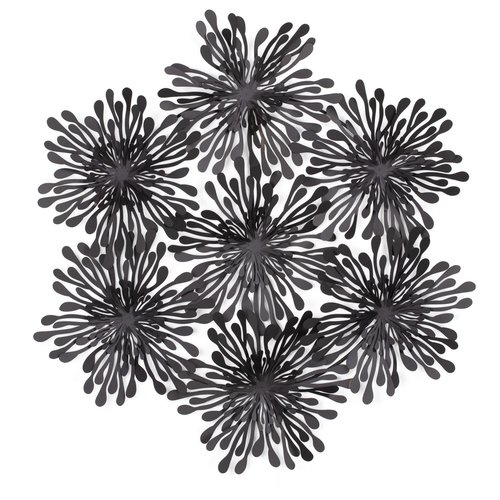 TORRE&TAGUS Décoration murale Dahlia fleurs noires