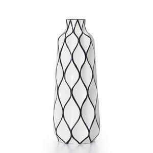 TORRE&TAGUS Grand vase Abstract noir et blanc