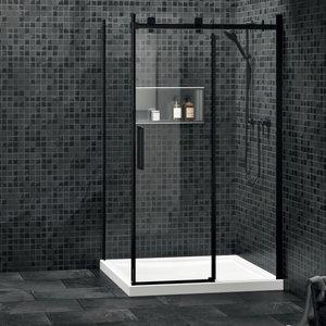 ZITTA Porte de douche Piazza 60'' noir mat