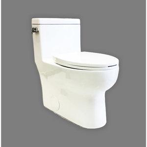 Toilette allongée Mainline monopièce 4.8L blanche
