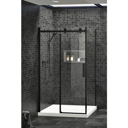 ZITTA Porte de douche Piazza 48po noire et clair