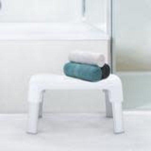 BETTER LIVING Marche-pied Smart aluminium et plastique blanc