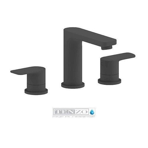 TENZO Robinet de lavabo Delano 8 pouces noir mat