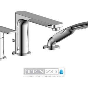 TENZO Robinet de bain 3 morceaux Delano chrome par Tënzo