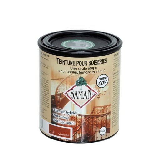 Teinture vernis hybride couleur cannelle 946 ml SAMAN
