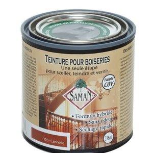 Teinture vernis hybride couleur cannelle 236 ml SAMAN