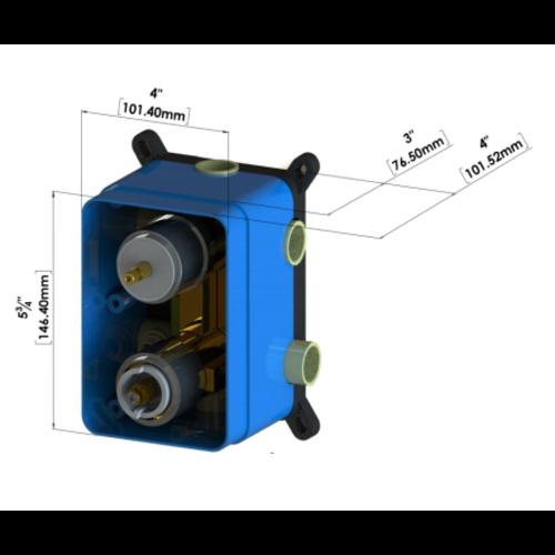 TENZO Brut de valve T-box universel