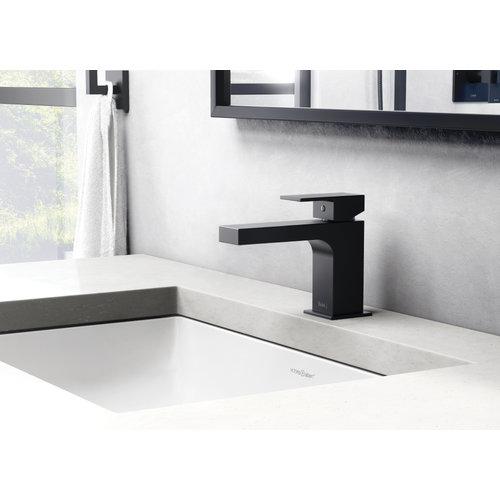 Riobel Robinet de lavabo monotrou noir KUBIK sans drain par RIOBEL