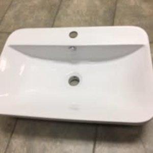 Lavabo semi encastré PRESTIGE porcelaine blanche par LIGANO