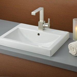Lavabo CAMILLA semi-encastré porcelaine blanche par CHEVIOT
