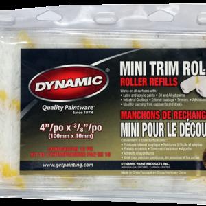 Mini rouleau en microfibre Dynamic 12 mm paquet de 10