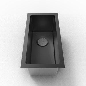 ligano Évier de bar 10 x 19 stainless noir par LIGANO