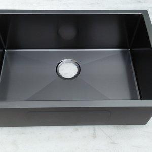 KITMAN Évier noir sous plan stainless noir 27 x 18 x 9 par LIGANO