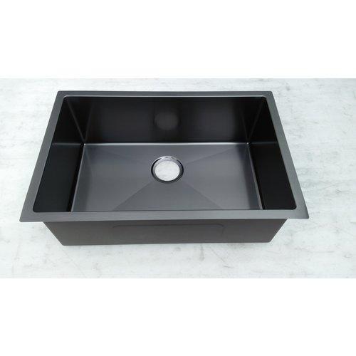 Évier noir sous plan stainless noir 27 x 18 x 9 par LIGANO